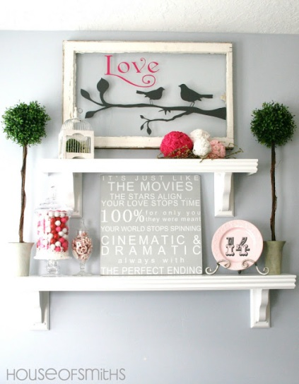 window pane valentine decor